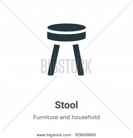 Stool icon isolated on white background from furniture and household collection. Stool icon trendy a
