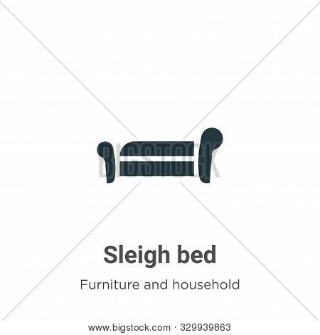 Sleigh bed icon isolated on white background from furniture and household collection. Sleigh bed ico