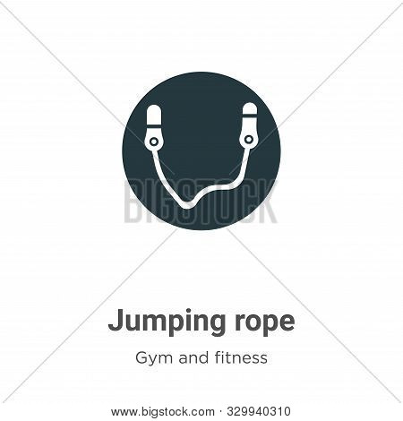 Jumping rope icon isolated on white background from gym and fitness collection. Jumping rope icon tr