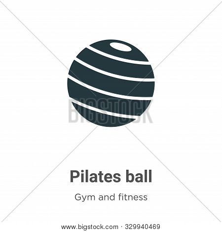 Pilates ball icon isolated on white background from gym and fitness collection. Pilates ball icon tr