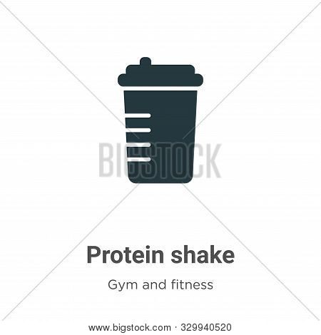 Protein shake icon isolated on white background from gym and fitness collection. Protein shake icon