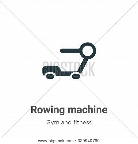 Rowing Machine Vector Icon On White Background. Flat Vector Rowing Machine Icon Symbol Sign From Mod