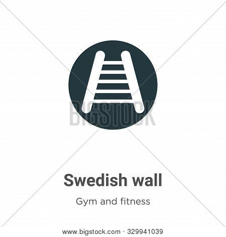 Swedish Wall Vector Icon On White Background. Flat Vector Swedish Wall Icon Symbol Sign From Modern