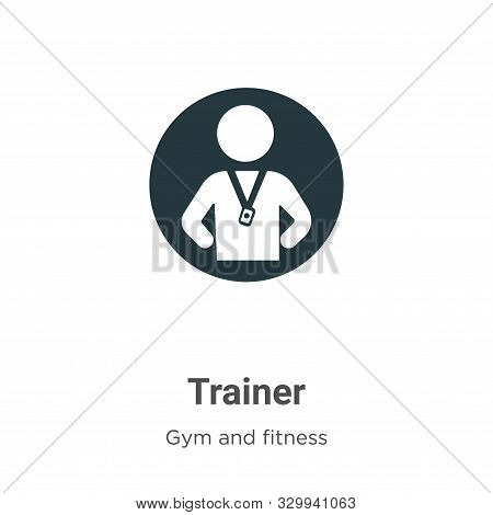 Trainer icon isolated on white background from gym and fitness collection. Trainer icon trendy and m