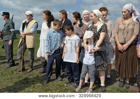 Reconstruction Of The Events Of The Second World War, The Participants In The Clothes Of Peasants An