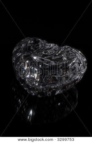 Glass Casket For Costume Jewelery