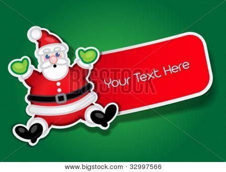 Santa Claus Label / Sticker