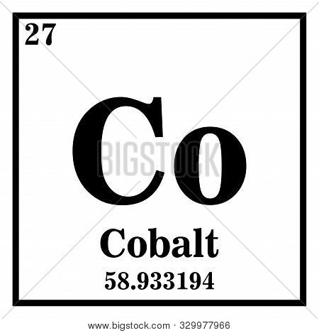 Cobalt Periodic Table Of The Elements Vector Illustration Eps 10.