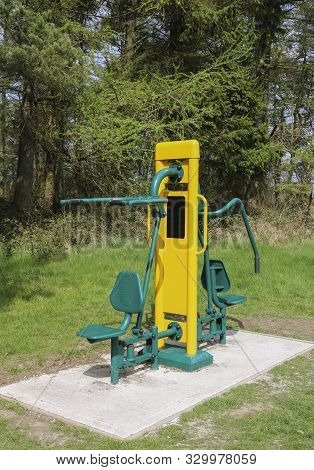 Gym Equipment - Outdoor Exercise Gymnasium. Fitness.