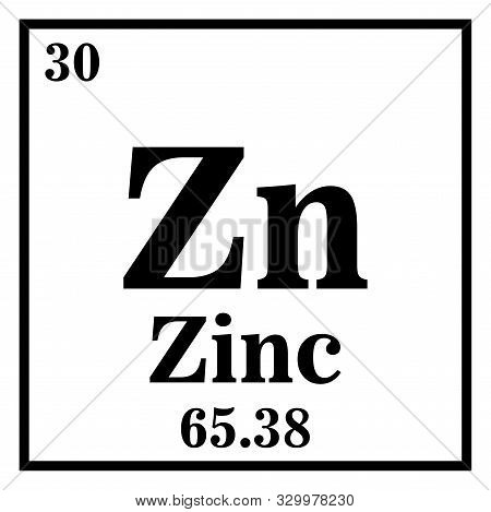 Zinc Periodic Table Of The Elements Vector Illustration Eps 10.