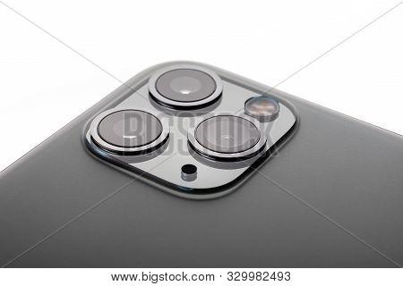 Minsk, Belarus - October, 26, 2019: New Space Gray Iphone 11 Pro Max