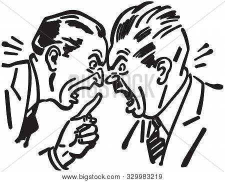 Heated Argument - Two Men Having An Intense Debate
