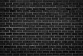 Wall dark brick wall texture background. Brickwork or stonework flooring interior rock old pattern clean concrete grid uneven bricks design stack. Black brick wall texture, brick surface for background. Brick wall texture gloomy, Vintage brick dark grey. poster