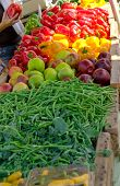 Fruit and Vegetables at the Farmers Market poster