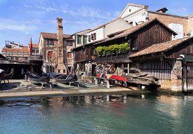 Squero Di San Trovaso. Gondolas Repair Shop In Venice, Italy.