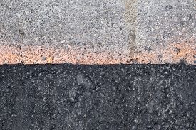 New And Old Road Pavement Side By Side