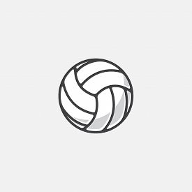 Volleyball Logo Element, Vector Volley Ball Icon, Sport Sign Template, Summer Beach Ball, Vector Ill