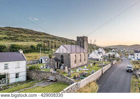 Portnoo, Ireland - June 20 2021 : The Church Of Ireland Is Located On The Road To Portnoo
