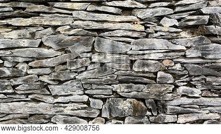 Natural Stone Masonry. Amazing Stone Pattern. Natural Natural Background.