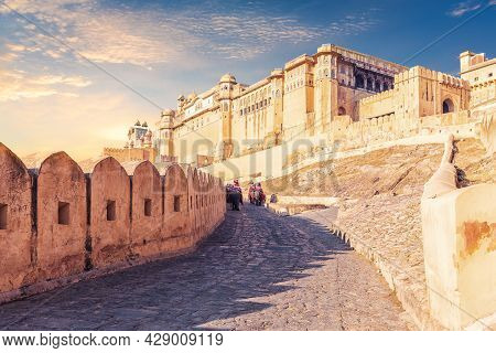Amber Fort Of Jaipur, Famous Tourist Attraction, Rajasthan, India