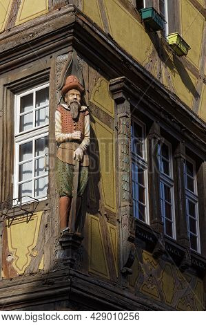 Colmar, France, June 26, 2021 : Old Architectural Detail. City Has A Rich Architectural Heritage, In