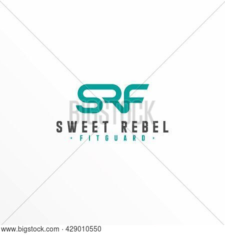Letter Srf Free Logo Vector Stock. Join Abstract Design Concept. Can Be Used As A Symbol Related To