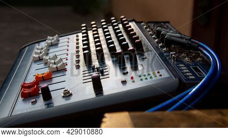Sound Music Mixing Equipment For Creating Sound Effects.