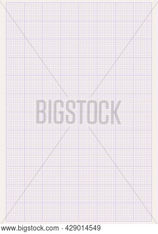 Graph Paper. Printable Millimeter Grid Paper With Color Lines. Geometric Pattern For School, Technic