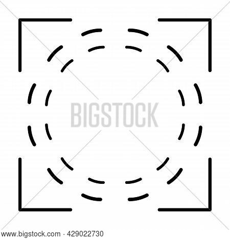 Target Aim Icon, Archer Sports Game Symbol. Game Aiming Sight Dot Pointer. Shoot Sniper Rifle Focus
