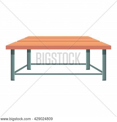 Outdoor Wood Table Icon Cartoon Vector. Park Furniture. Picnic Table