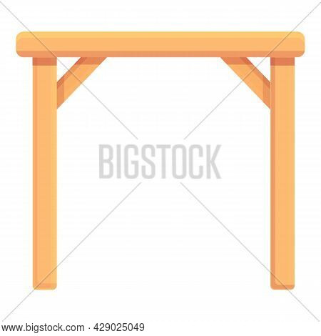 Wood Restaurant Table Icon Cartoon Vector. Picnic Table. Garden Furniture
