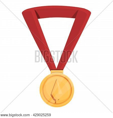 Archery Competition Medal Icon Cartoon Vector. Archer Game. Arrow Sport