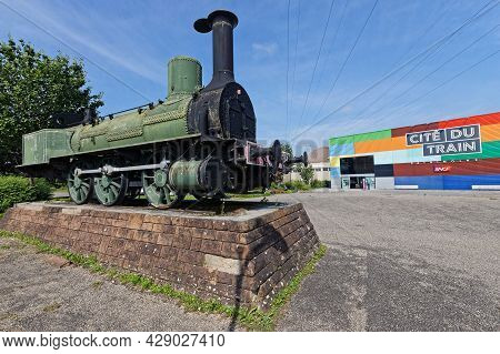 Mulhouse, France, June 26, 2021 : Main Entrance. La Cité Du Train (train City), Formerly Named Frenc
