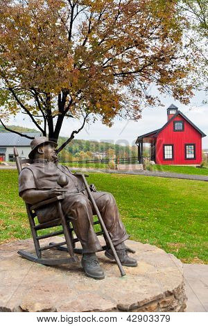Statue Of J. Beam At Jim Beam Distillery