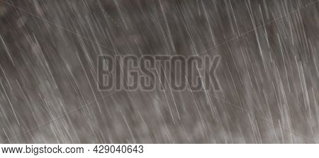 Abstract Raindrops Nature Background. Long Exposure Motion. Empty Space