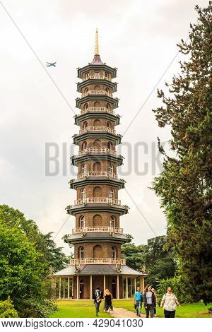The Great Pagoda, Kew Gardens, London, 2021.  Built In The 1800's This Is An Iconic Landmark Within