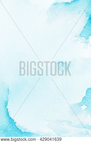 Blue watercolor style background illustration
