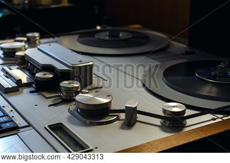 Moscow, Russia - May 23, 2021: Studer A812 Reel-to-reel Tape Recorder Close-up At The Hi-fi & Hi-end
