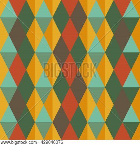 Argyle Seamless Pattern Background. Retro Color Tartan Plaid. Texture Design For Apparel, Textile, G