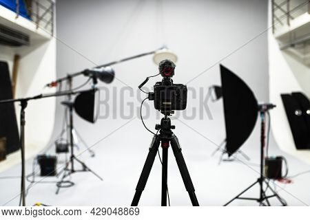 Set up of a studio shoot