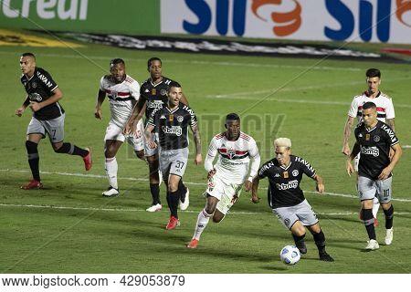 Rio, Brazil - August 04, 2021: Orejuela And Marquinhos Gabriel Player In Match Between Vasco Vs Sao