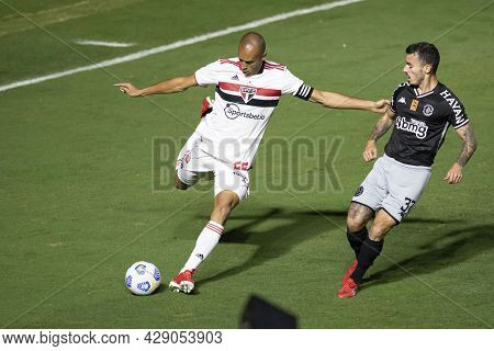Rio, Brazil - August 04, 2021: Miranda Player In Match Between Vasco Vs Sao Paulo By Brazilian Cup I