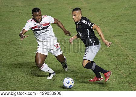 Rio, Brazil - August 04, 2021: Leo Jaba And Luan Players In Match Between Vasco Vs Sao Paulo By Braz
