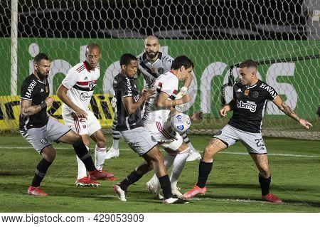 Rio, Brazil - August 04, 2021: Match Between Vasco Vs Sao Paulo By Brazilian Cup In Sao Januario Sta