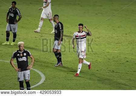 Rio, Brazil - August 04, 2021: Rigoni Player In Match Between Vasco Vs Sao Paulo By Brazilian Cup In