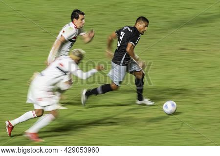Rio, Brazil - August 04, 2021: Photo In Slow Motion (blurred) - Leo Matos Player In Match Between Va
