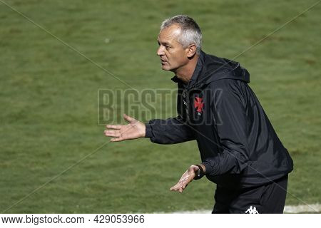 Rio, Brazil - August 04, 2021: Lisca Coach In Match Between Vasco Vs Sao Paulo By Brazilian Cup In S