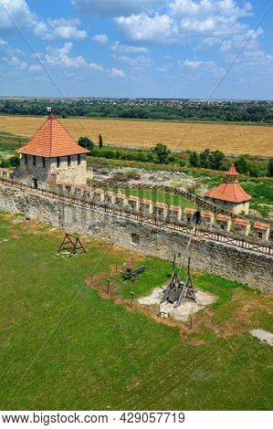 Old medieval Turkish and Russian Bender fortress on Dniester river in Tighina or Bendery, Transnistria, Moldova