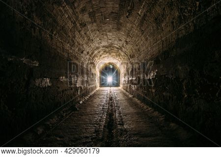 Dark And Creepy Old Historical Vaulted Underground Road Tunnel