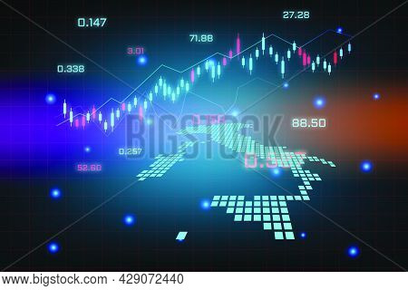 Stock Market Background Or Forex Trading Business Graph Chart For Financial Investment Concept Of It